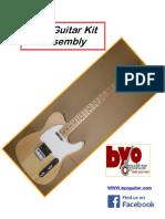 Tele Guitar Kit Instructions