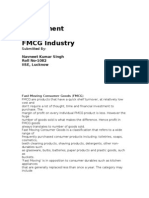 Fmcg Project Report
