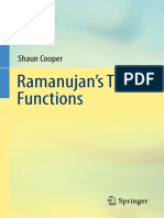 Ramanujan's Theta Functions-Springer International Publishing (2017)