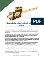 How to Build a box guitar