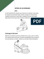 Qué hacer en caso de un derrame