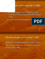 Advantages of Coaxial Cable