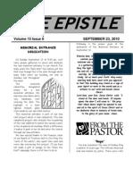 September 2010 Epistle