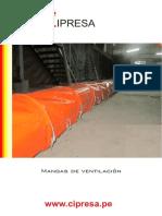 Especificaciones Mangas de Ventilación