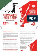 Folleto del PCE sobre la Huelga General del 29S