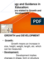 Factors Related to Growth and Development