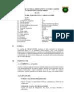 Sílabo Derecho de Obligaciones 2018-i