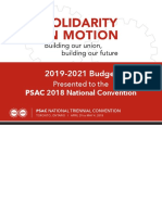 1-Budget 2019-2021 to Convention-psac 2018 Conv