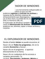 El Explorador de Windows