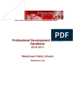 2010 - 2011 Professional Development Handbook