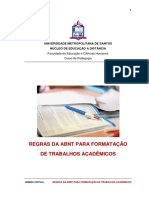 Regras Da ABNT Para Formatacao de Trabalhos Academicos