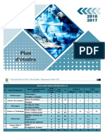 Plan Etudes Departement Genie Civil
