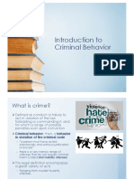Introduction to Criminal Behavior