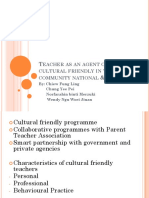Teacher as an Agent of Cultural Friendly in National and Global