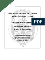 Programa Psicoterapia II 2017