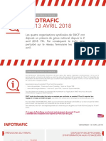 Trafic SNCF 13 avril