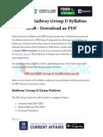 RRB Gropu D Detailed Syllabus 2018