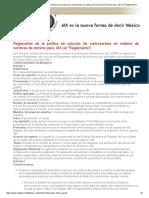 Reglamento de La Política de Solución de Controversias en Materia de Nombres de Dominio Para MX