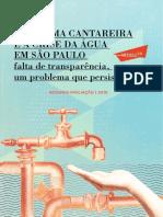 Sistema Cantareira e a Crise Da Água Em São Paulo 2