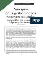 4Principios en La Gestión de Los Recursos Naturales Compartidos Por Los Estados Del Primigenio Mercosur