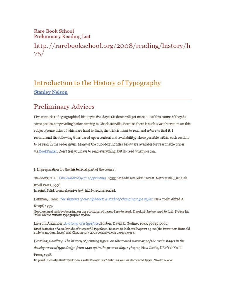 Rare Book School | Typography | Calligraphy