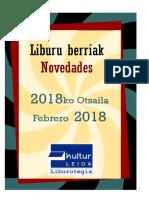 2018ko otsaileko liburu berriak -- Novedades de febrero del 2018