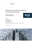 ROI Analysis of the System Architecture Virtual Integration Initiative