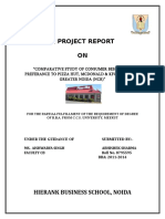3695. COMPARATIVE STUDY OF CONSUMER BEHAVIOUR PREFERANCE TO MCDONALD, KFC & PIZZA HUT IN NOIDA &  GREATER NOIDA (Hierank).doc