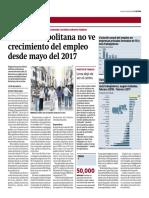 Lima Metropolitana no ve crecimiento del empleo desde mayo del 2017 - Miguel Jaramillo - 09042018 - Gestión