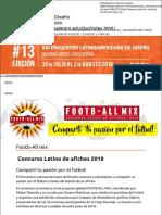 Footb-All mix | Concurso Latino de afiches 2018 del Encuentro Latinoamericano de Diseño