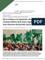 RD Se Inclina a La Izquierda_ Elecciones Consejo Político Deja Tenso Equilibrio Entre Lotes Internos Del Partido Ancla Del FA - El Mostrador