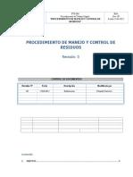 Pts-006 Procedimiento de Manejo y Control de Residuos