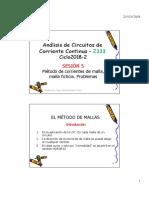 METODO DE CORRIENTE MALLA - Clase5 - Z333-2018-2