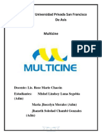 Análisis FODA Del Multicine