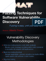 [slides] Fuzzing Techniques for Software Vulnerability Discovery