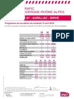 Ligne Aurillac Brive
