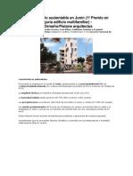 Proyecto Edificio Sustentable en Junín