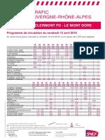 Ligne Clermont Le Mont Dore
