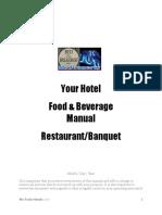 Fb Manual for Restaurant Amp Banquet