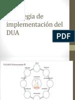 Estrategia de Implementación Del DUA