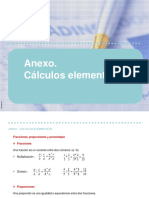 Anexo. Cálculos elementales