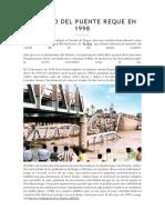 Colapso Del Puente Reque en 1998