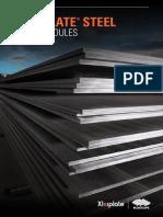 XLERPLATE Steel Size Schedule