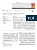 Effect of Surface Topography on the Dynamics of the Abrasive Particles During Micro-Abrasion