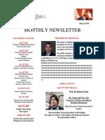 Newsletter March 2018