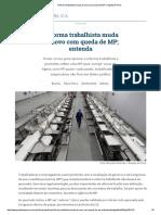 Reforma Trabalhista Muda de Novo Com Queda de MP _ Gazeta Do Povo