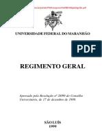 Regimento Geral Da Ufma
