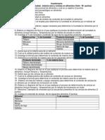 Cuestionario Humedad Materia Seca y Cenizas