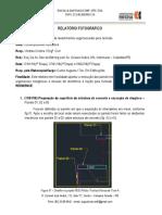 Relatório Fotográfico - Ensaio de Adequação de Argamassas Inorgânicas CONTEMPORÃNEO