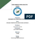 Tarea (4) Proceso Formativo en La Educacion a Distancia